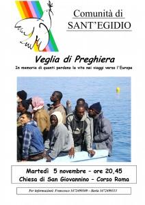 Locandina preghiera memoria profughi