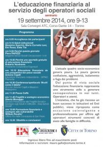 seminario 19 settembre - l'educazione finanziaria ed operatori sociali