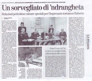 22 febbraio 2014 La Stampa Un sorvegliato di 'ndrangheta