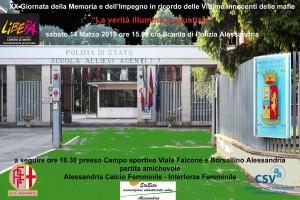 Scuola Polizia Alessandria Manifesto