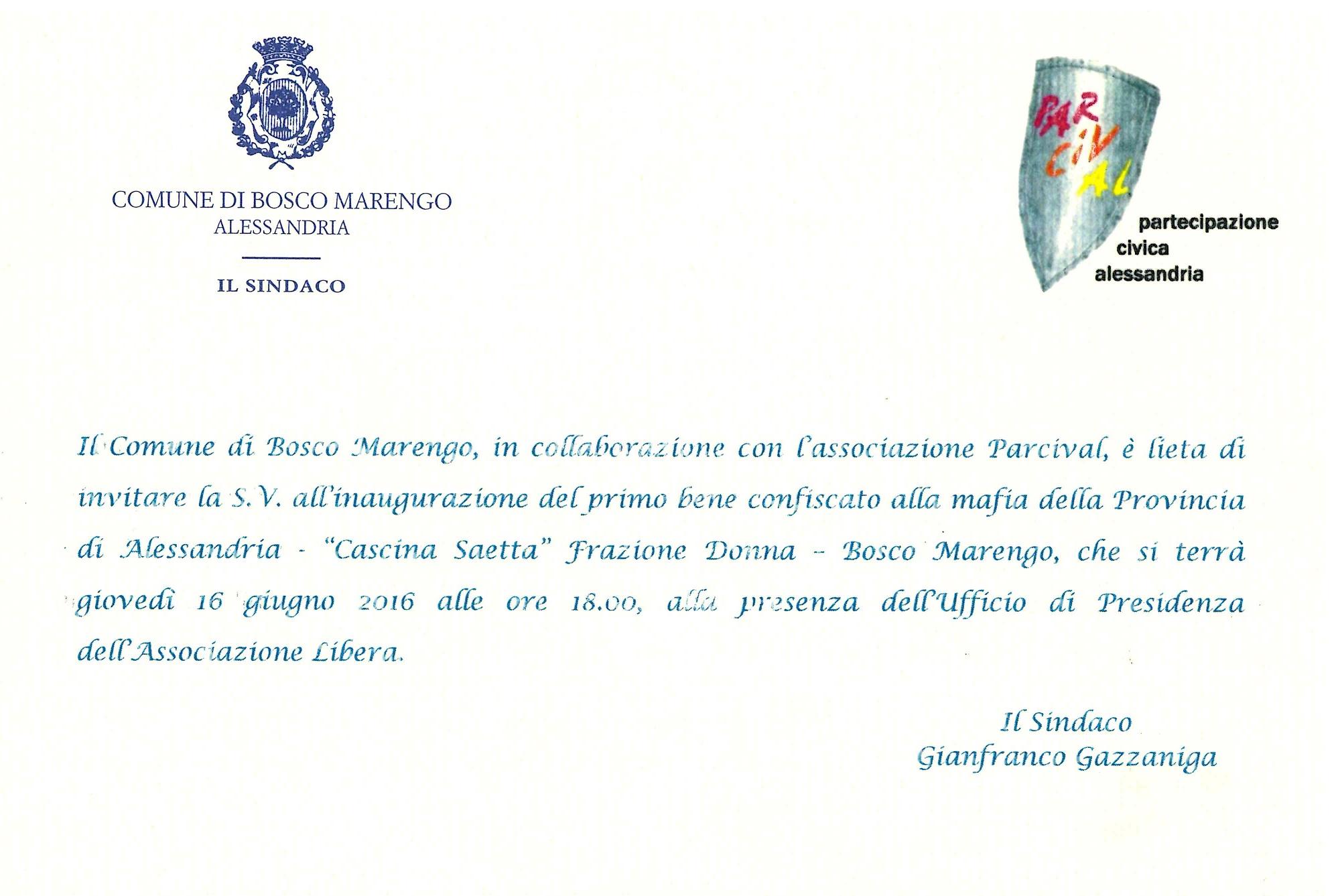 Invito Cascina Saetta